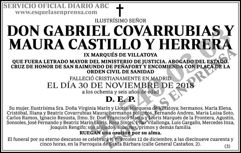 Gabriel Covarrubias y Manura Castillo y Herrera